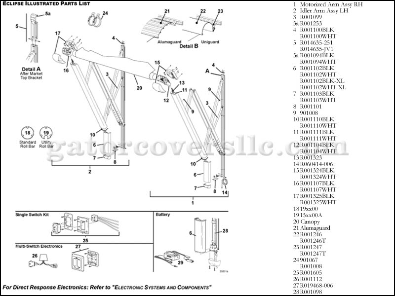 RV Awning Parts